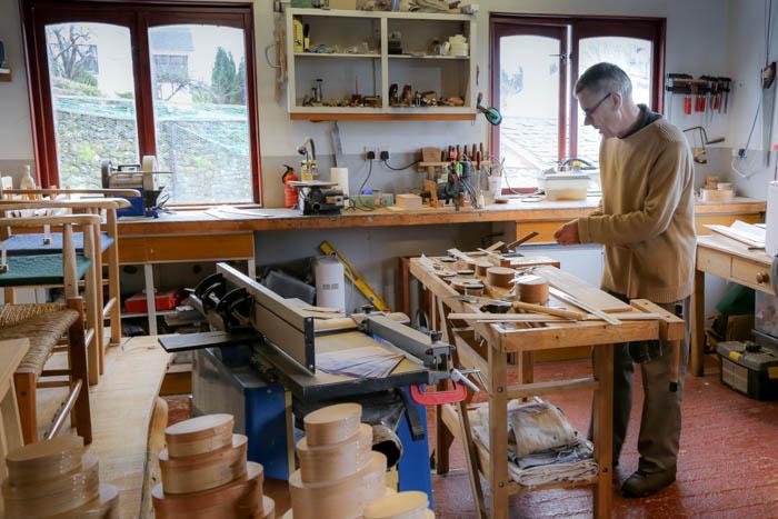 Keith Shorrock furniture workshop